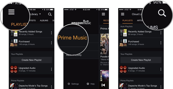 amazon music prime iphone