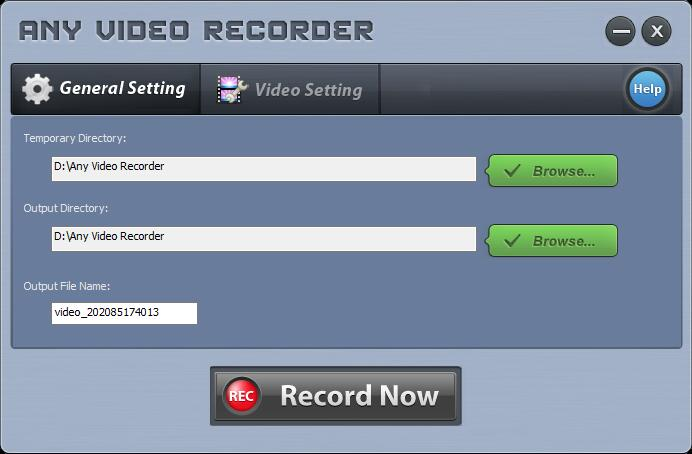 any video recorder interface