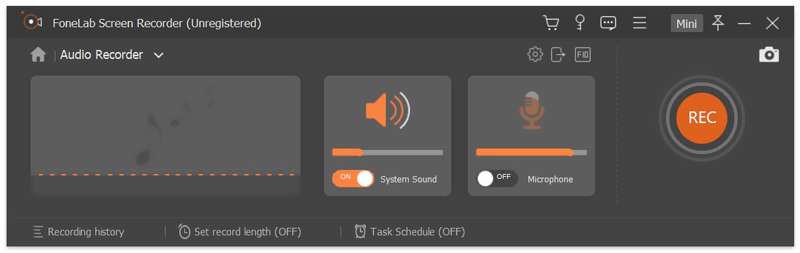Audiorecorder-Einstellungen