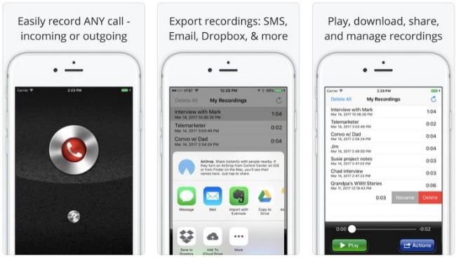 grabadora de llamadas pro para iphone