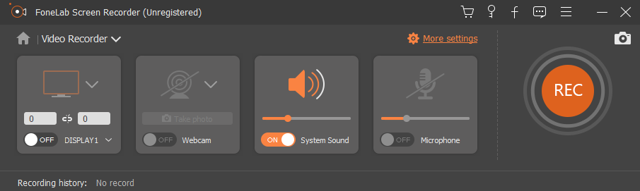 Manage the screen recording settings