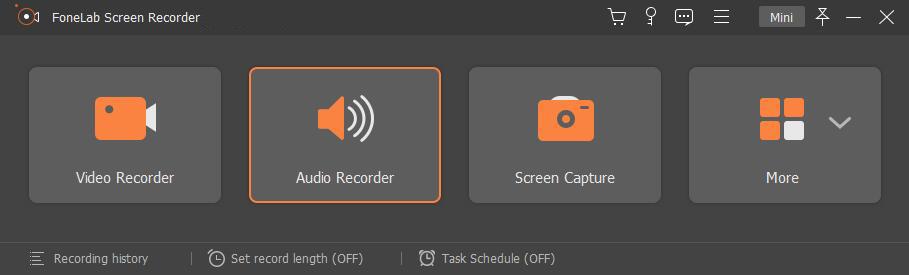escolha o modo de gravação de áudio