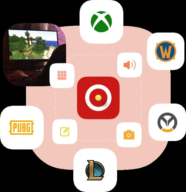 imagem de gravador de jogos de computador
