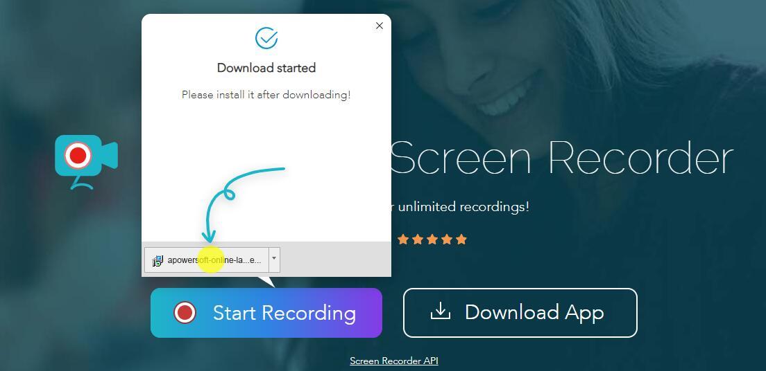 Laden Sie den apowersoft Screen Recorder Launcher herunter