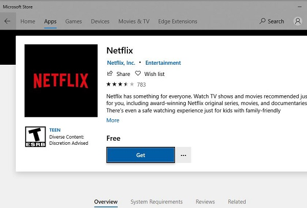 重新安裝Netflix App