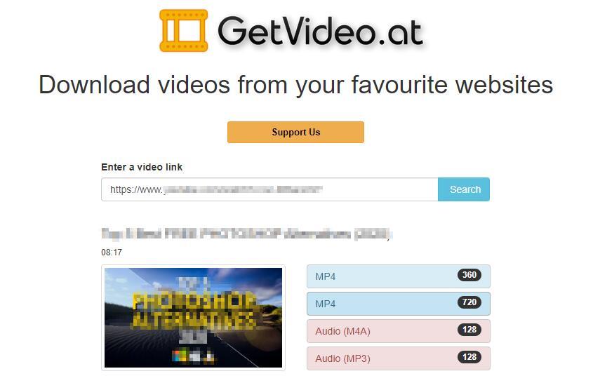 Laden Sie das Periskop-Video auf der Video-Seite herunter
