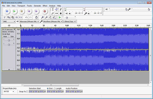 Extrahieren Sie Audio aus Video mit Audacity