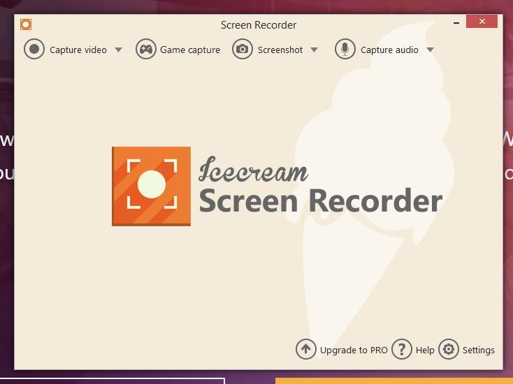 Icecream Screen Recorder-Schnittstelle