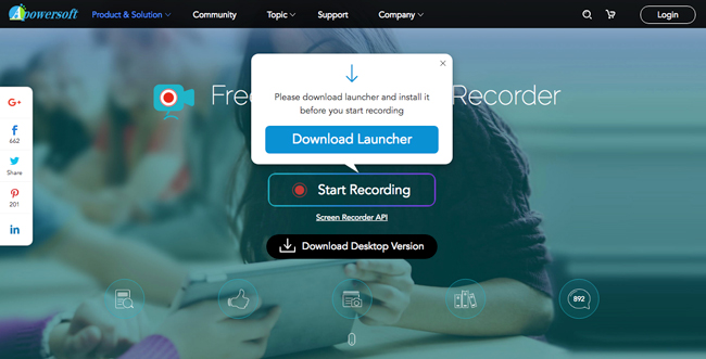 Starten Sie den Apowersoft Screen Recorder