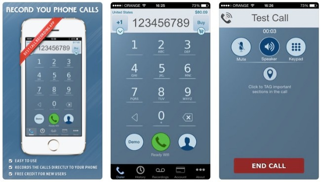 intcall iphone call recorder app