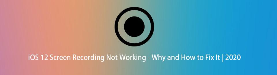 iOS 12-Bildschirmaufzeichnung funktioniert nicht - Warum und wie wird das Problem behoben? 2020