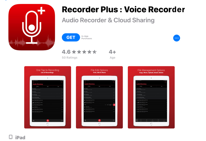 Jak nagrać głos na urządzeniu iPad Recorder Plus