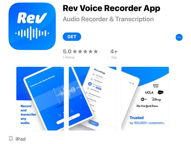 Jak nagrać głos na iPadzie Rev Dyktafon