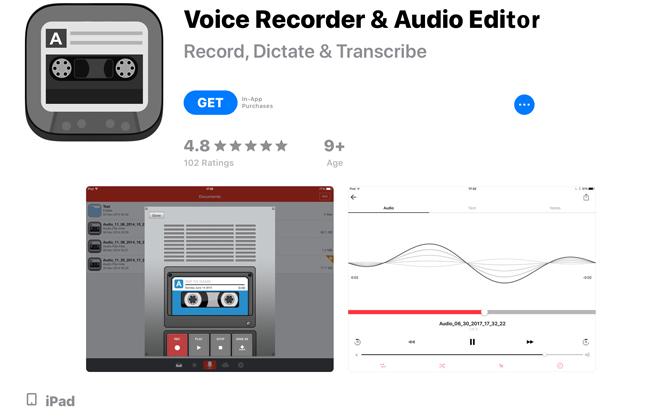 Hogyan rögzíthetünk hangot az iPad Voice Recorder & Audio Editor segítségével