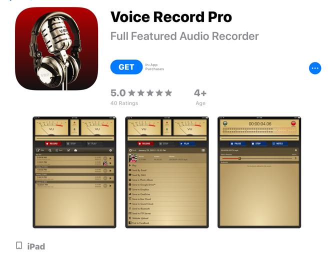 Jak nagrać głos na iPadzie Nagrywanie głosu Pro
