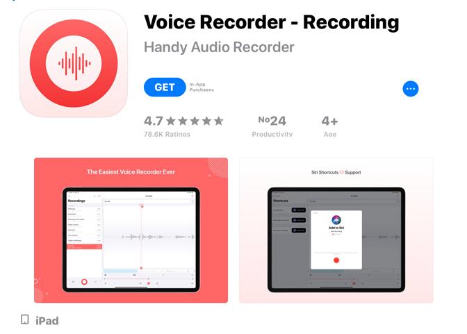 Hogyan rögzíthetünk hangot az iPad hangrögzítőn - Felvétel