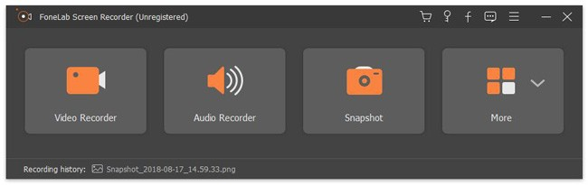 Uruchom FoneLab Screen Recorder