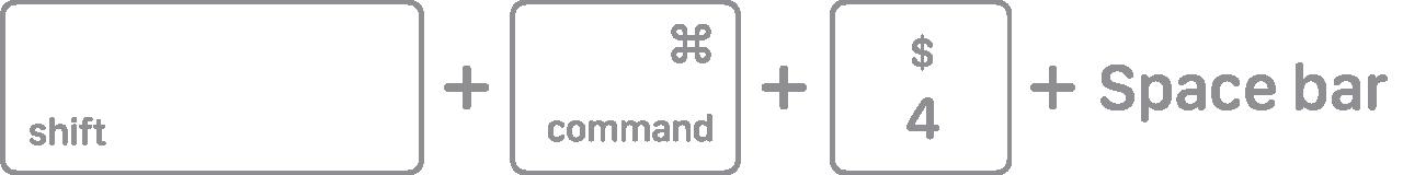 Shift + Command + 4 +空格鍵