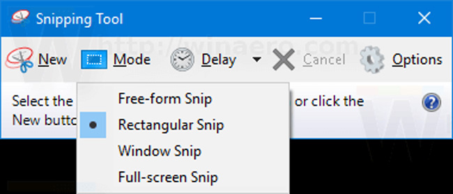 new snipping tool