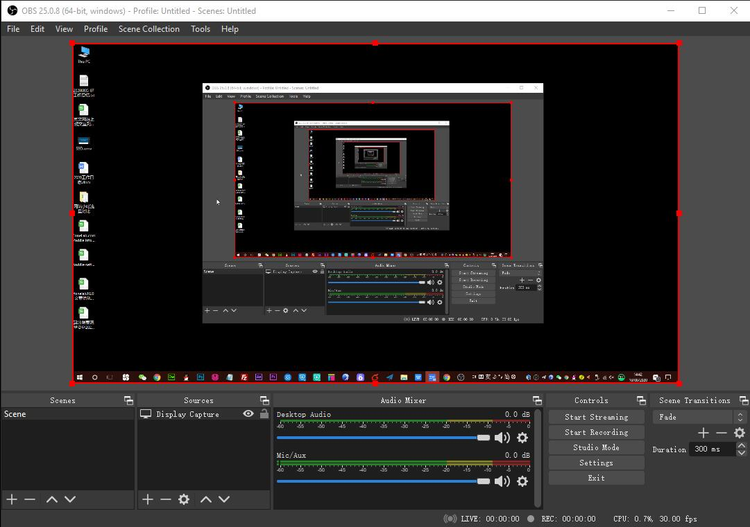 choose display capture on obs