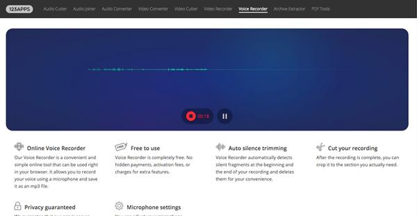 enregistreur audio en ligne