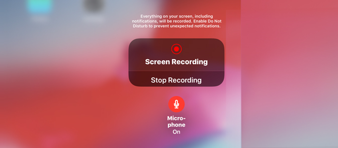 How to Record Gameplay on iPad staret record