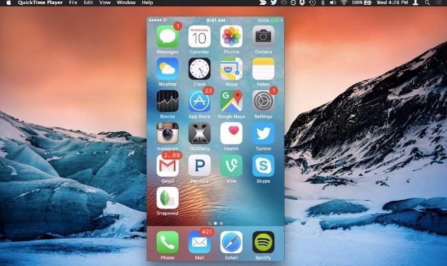 enregistrer un écran iphone avec quicktime