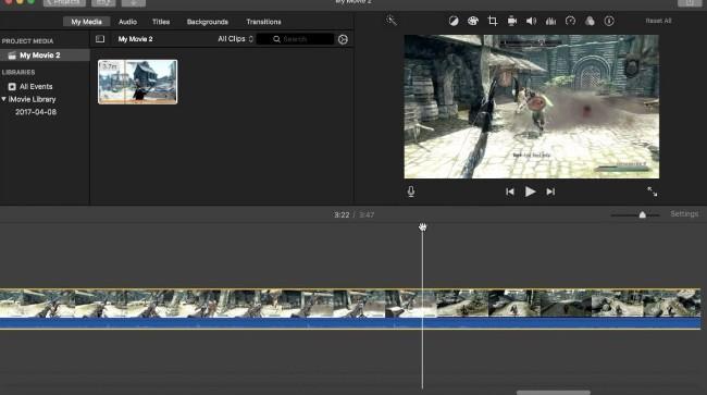Spela in en video i iMovie