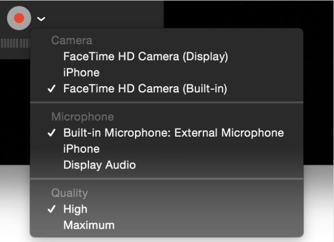 Video mit QuickTime aufnehmen