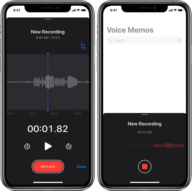在iPhone上錄製語音