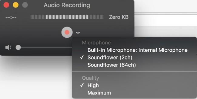 在Mac上以QuickTime錄製語音