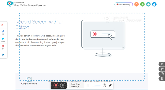 enregistrement apowersoft screen recorder