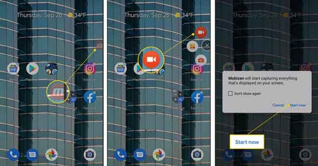 Bildschirmaufnahme auf Samsung mit Mobizen