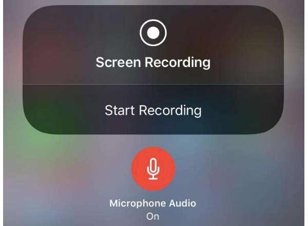 iPhone上的屏幕錄製
