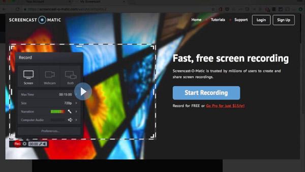 屏幕錄像自動