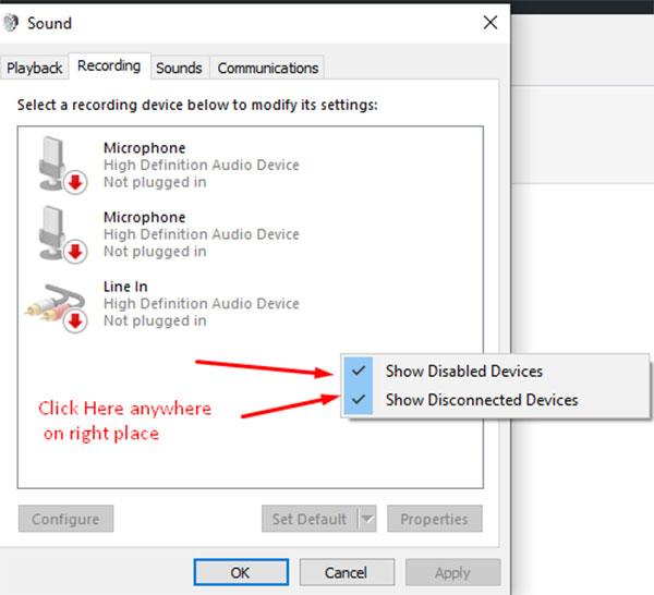 Suchen Sie nach deaktivierten Geräten