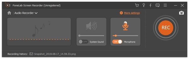 enregistreur audio fonelab