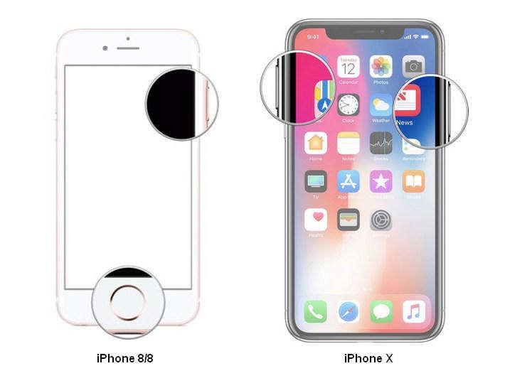 帶有ID的iPhone屏幕快照