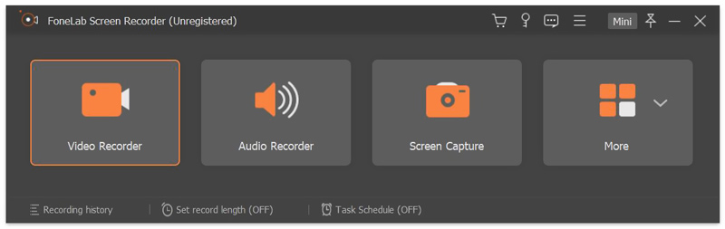 zoom recorder interface