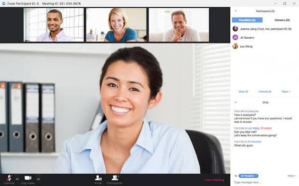 Videokonferenz zoomen