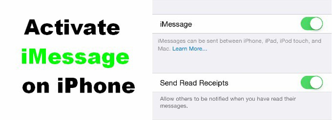 vérification d'activation imessage