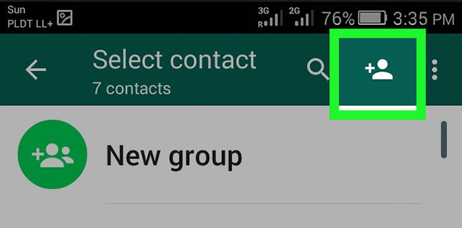 hozzáadja a whatsapp kapcsolatot
