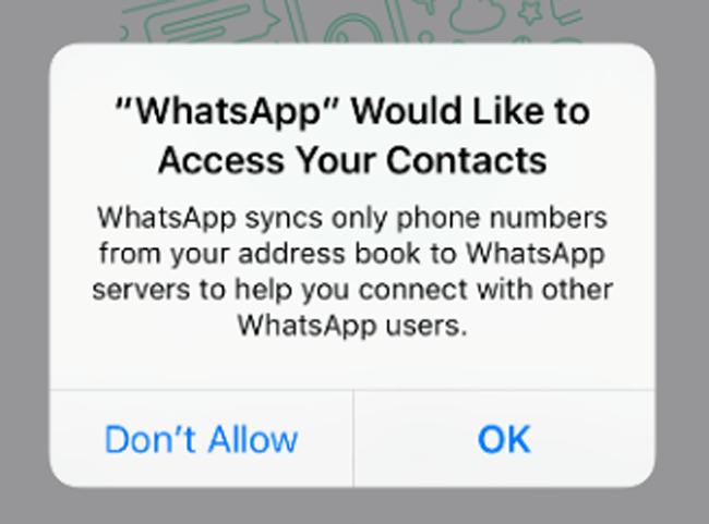 whatsapp lehetővé teszi a hozzáférési kapcsolatot