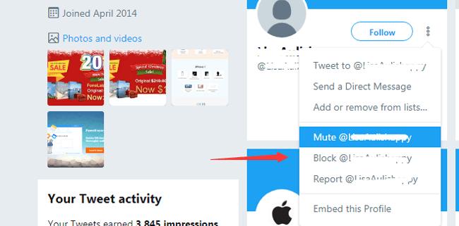 bloquear usuario de twitter