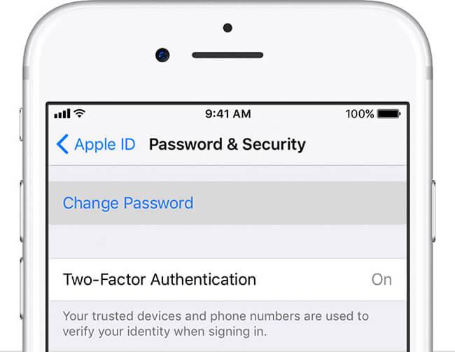 återställ Apple-lösenordet