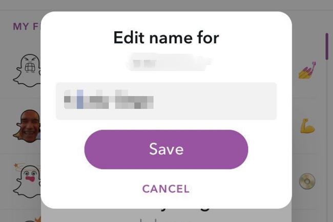 changer le nom de Snapchat
