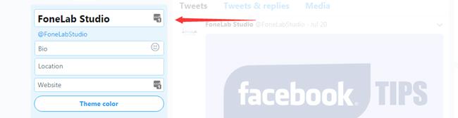 cambiar el nombre para mostrar de twitter