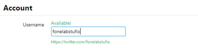 cambiar el nombre de usuario de Twitter