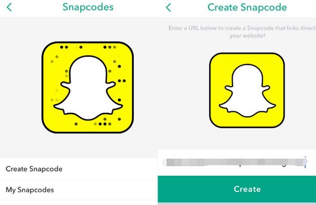 créer un snapcode