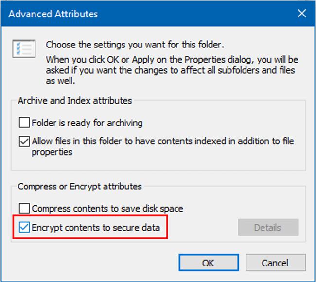titkosítsa az érzékeny adatokat